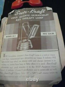 1940's Sun Kraft Ultra Violet Quackery Medical Equipment