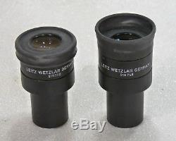 2x Leitz Wetzlar Mikroskop Okular eye piece Periplan 10x Brille Mikrofotografie