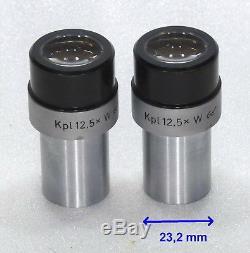 2x Zeiss Mikroskop Okular Okularpaar Kpl 12,5x W Brille 23,2 mm eye piece