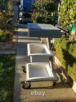 3 Shelves Medical Steel Mobile Trolly Cart Spa Salon Dental Lab Equipment