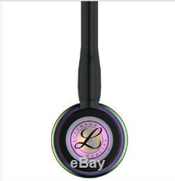 3M Littman Cardiology IV Stethoscope, Rainbow Finish, Black Tubing, 27 inches