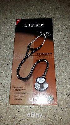 3M Littmann Cardiology III Stethoscope 27 Blackclassic Works great