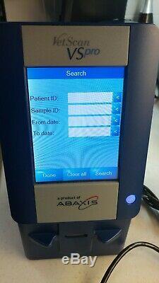 Abaxis VetScan VS Pro Hematology Medical Equipment Blood Analyzer Testing
