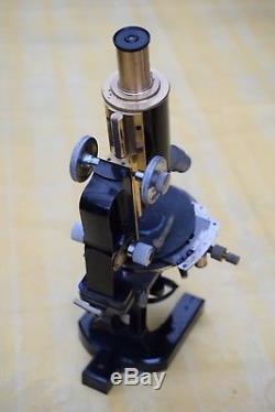 Altes großes massives Carl Zeiss Jena Mikroskop Nr. 33215 um 1900/1905