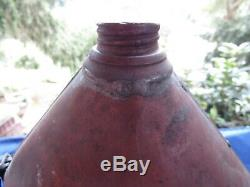 Antique Civil War Era Medical Soldered Tin or Copper Canteen- Screw Off Top