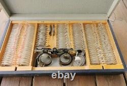 Antique, Vintage Optical Trial Lens Set Medical Optometrist Equipment CARL ZEISS