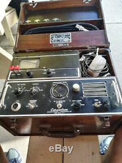 Antique medical equipment 1940s EKG CARDIOTRON good condition complete