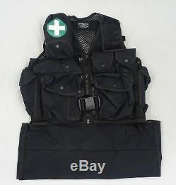 Arktis Black Tactical Medic Vest Tac Vest K175 P423T Security Dog Handler BV06