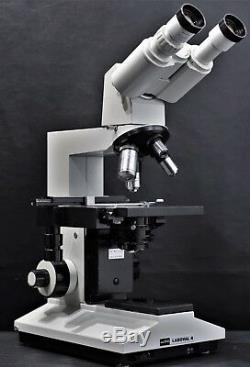 Aus Jena Laboval 4 Carl Zeiss Binocular Microscope with P10 x 18 Eyepieces