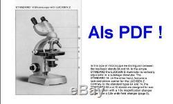 Binokulares Arzt Forschungs Mikroskop Zeiss Standard 14 Vergr 25x-800x (1250x)