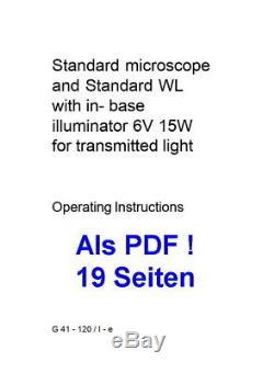 Binokulares Arzt Forschungs Mikroskop Zeiss Standard 14 Vergr. 40-1250x LED