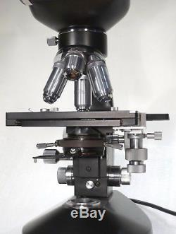 Binokulares Arzt Labor Mikroskop 50-1000x Hellfeld + Niedervoltleuchte
