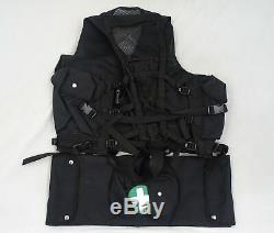 Black Tactical Medic Vest Tac Vest Security Dog Handler Like Arktis K175 BV07