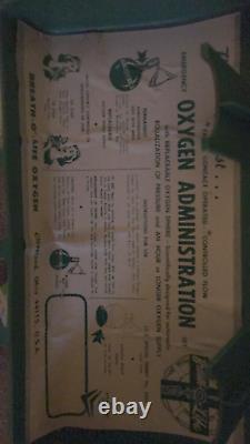 Breath-o-Life Vintage Medical Equipment Antique Oxygen Kit Rare 1950s