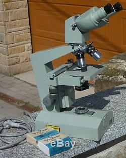 Carl Zeiss Jena 1Q Mikroskop, Labor/Forschungsmikroskop mit Beleuchtung