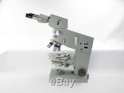 Carl Zeiss Jena Amplival pol-u Mikroskop microscope mit Objektiven und Okularen
