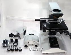 Carl Zeiss Jena Labor Forschungs Arzt Mikroskop Laboval 4 Vergrößer. 32-1000x