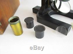 Carl Zeiss Jena Mikroskop Stativ I microscope mit Objektiven und Okularen