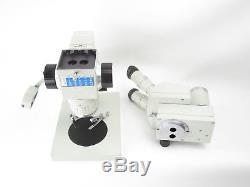 Carl Zeiss Jena Technival Mikroskop microscope mit Okularen und Beleuchtung