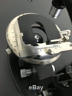 Carl Zeiss Mikroskop no. 32463 Black Guter Zustand