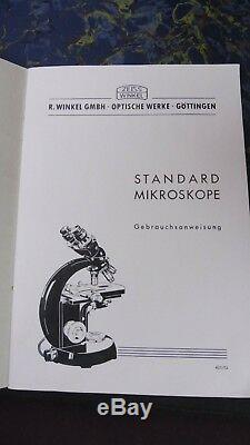 Carl Zeiss, Stereomikroskop, Mikroskop, Holzkasten, Gebrauchsanweisung, Nr. 247988