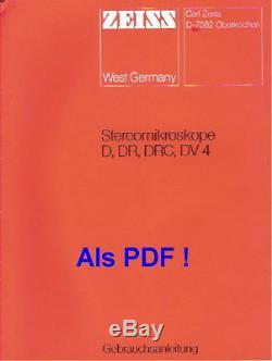 Carl Zeiss Stereomikroskop Stemi DR / Vergr. 20x 40x + regelbare Beleuchtung