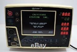 Criticare Scholar III 507 EL Patient Monitor Medical ECG Equipment marine