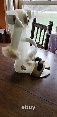 Custom AFO Foot Leg Plastic Drop Leg Braces Movie Prop medical equipment