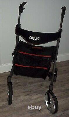 Drive Medical equipment F-22 rollator rolling walker aid seat bag folding 2018