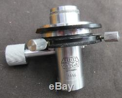E Leitz Wetzlar objective nosepiece turret with condenser eyepiece filters boxed
