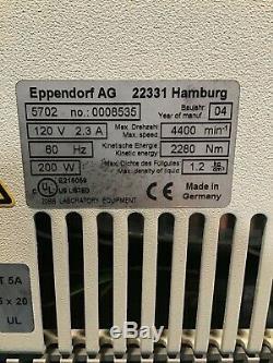 Eppendorf 5702 Centrifuge, Medical, Healthcare, Laboratory Equipment, Lab