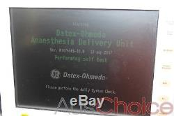 GE Datex Ohmeda A-AUF 02 S/5 ADU Carestation Anesthesia Anaesthetic Machine