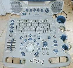 GE LOGIQ P5 2007 ULTRASOUND SYSTEM With2 PROBES 4C CONVEX & 9L LINEAR