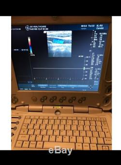 GE Logic Book XP Ultrasound Machine with 2 probes (transducer) Convex and Linear