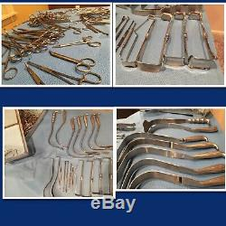 HUGE LOT OF 3 Medical Surgery SURGICAL equipment with TRAYS