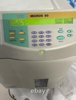 Horiba ABX Micros 60 CS Hematology Analyzer Fast Shipping Medical Equipment