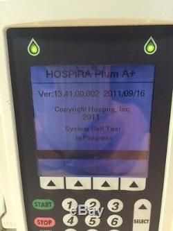 Hospira Plum A+ IV Infusion Pump NEW BATTERY Certified 30 Day warranty