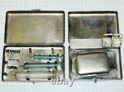 Japanese Army medical equipment box 2-piece set Excellent From JAPAN