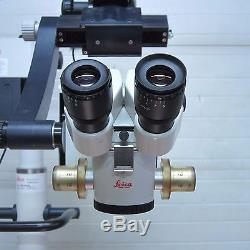 LEICA M400 E SURGICAL MICROSCOPE With STAND/LIGHT, 10X EYEPIECES & F=200 OBJECTIVE