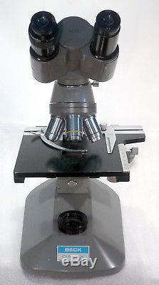Labor Arzt Forschungs Mikroskop BECK DIAMAX binokular 100-1000x + Köhlerbeleucht