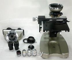Labor Arzt Forschungs Mikroskop Erma Hellfeld 40-1000x Option Dunkelfeld + Pol