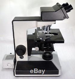 Labor Arzt Forschungs Mikroskop Leitz Laborlux S binokular 150 1500x