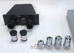 Labor Arzt Forschungs Mikroskop Leitz SM-LUX binokular 40-1000x Dunkelfeld Opt