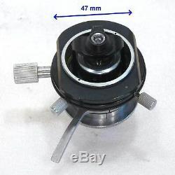 Leitz Mikroskop Zweiblenden Kondensor nach Berek / Achr 0,90 + Klapplinse