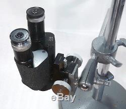 Leitz Stereomikroskop Prismenlupe mit Schwenk Stativ Vergr. 3,5x / erweiterbar