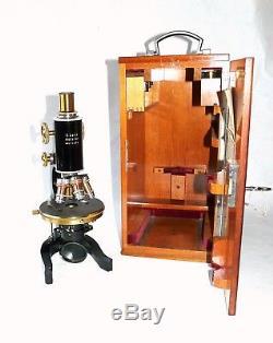 Leitz antikes Mikroskop ca. 1910, Vergrößerung von 51 bis 1260