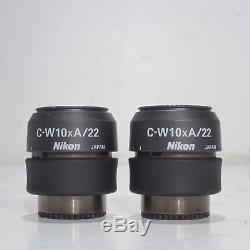 NIKON SMZ800 STEREO ZOOM MICROSCOPE With LIGHT, STAND & PLAN 1X OBJECTIVE