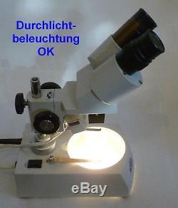 NOVEX AP-5 Stereomikroskop Stereolupe Stemi Präparierlupe / Vergrößerung 20x