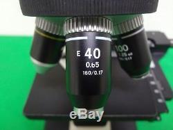 Nikon Alphaphot 2 YS2 Binocular Microscope with 2 Eyepiece & 4 Objective Lab