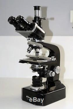 Nikon Trinocular microscope complete with 4 objectives 4 10 20 40 + extras